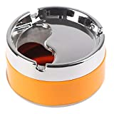 XSWY 1pc Red Green Orange Detachable Rotatable Lid 360 Degree Free Rotation Stainless Steel Corrosion Resistance Cigarette Ashtray (Color : Orange)