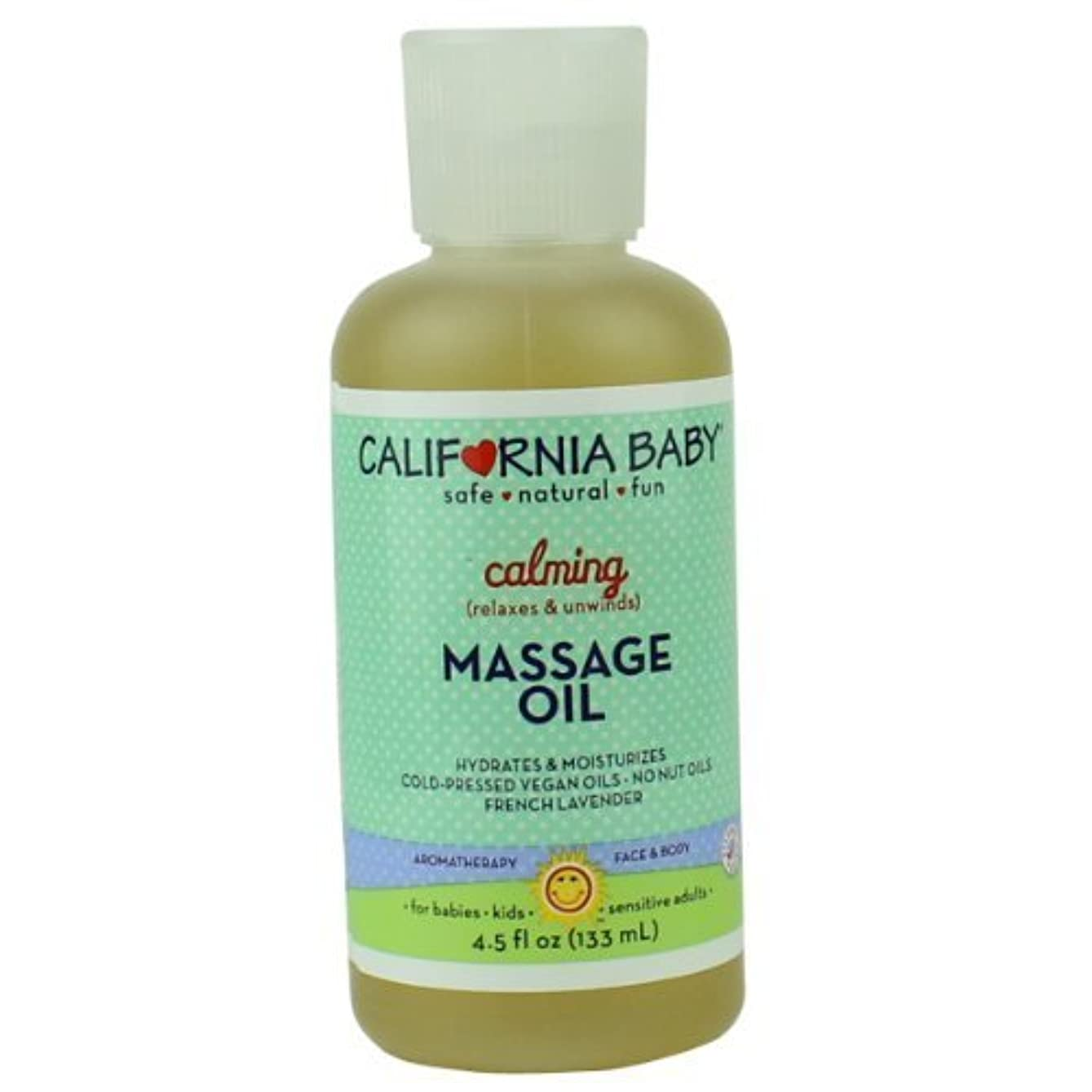 議題ガレージ飾るCalifornia Baby Calming Massage Oil 4.5fl.(133ml) by California Baby [並行輸入品]