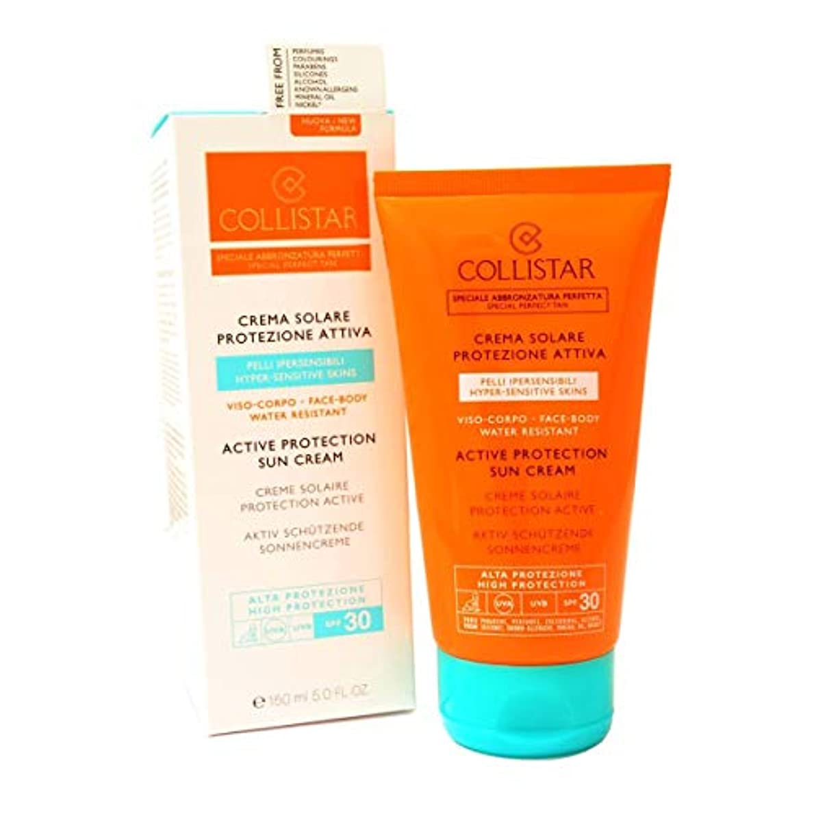 無効パット野心Collistar Active Protection Sun Cream Spf30 Face And Body 150ml [並行輸入品]