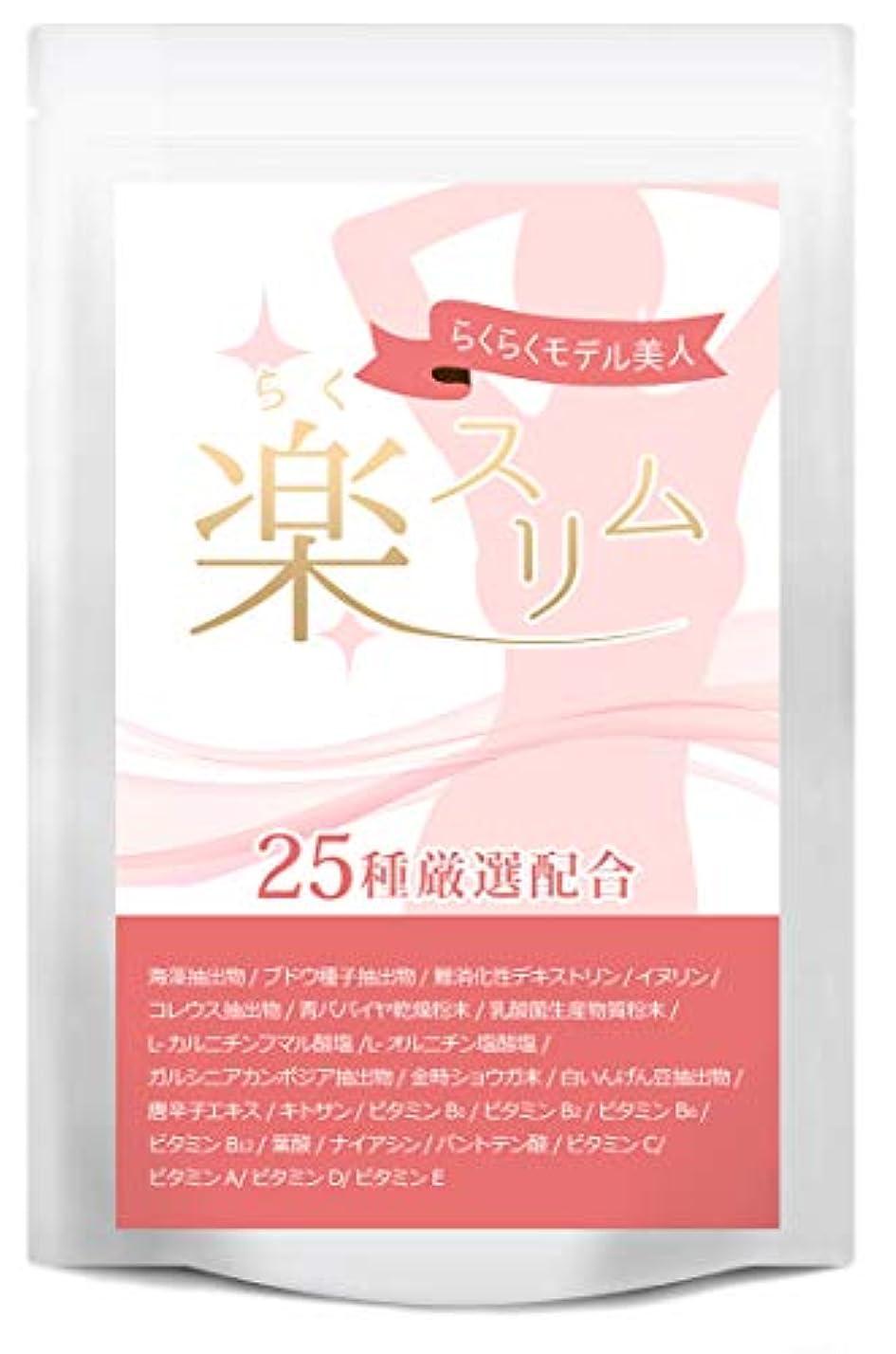 デザイナー控えるスローダイエット サプリ 楽スリム 燃焼系 サプリメント ダイエットサプリ 60粒30日分