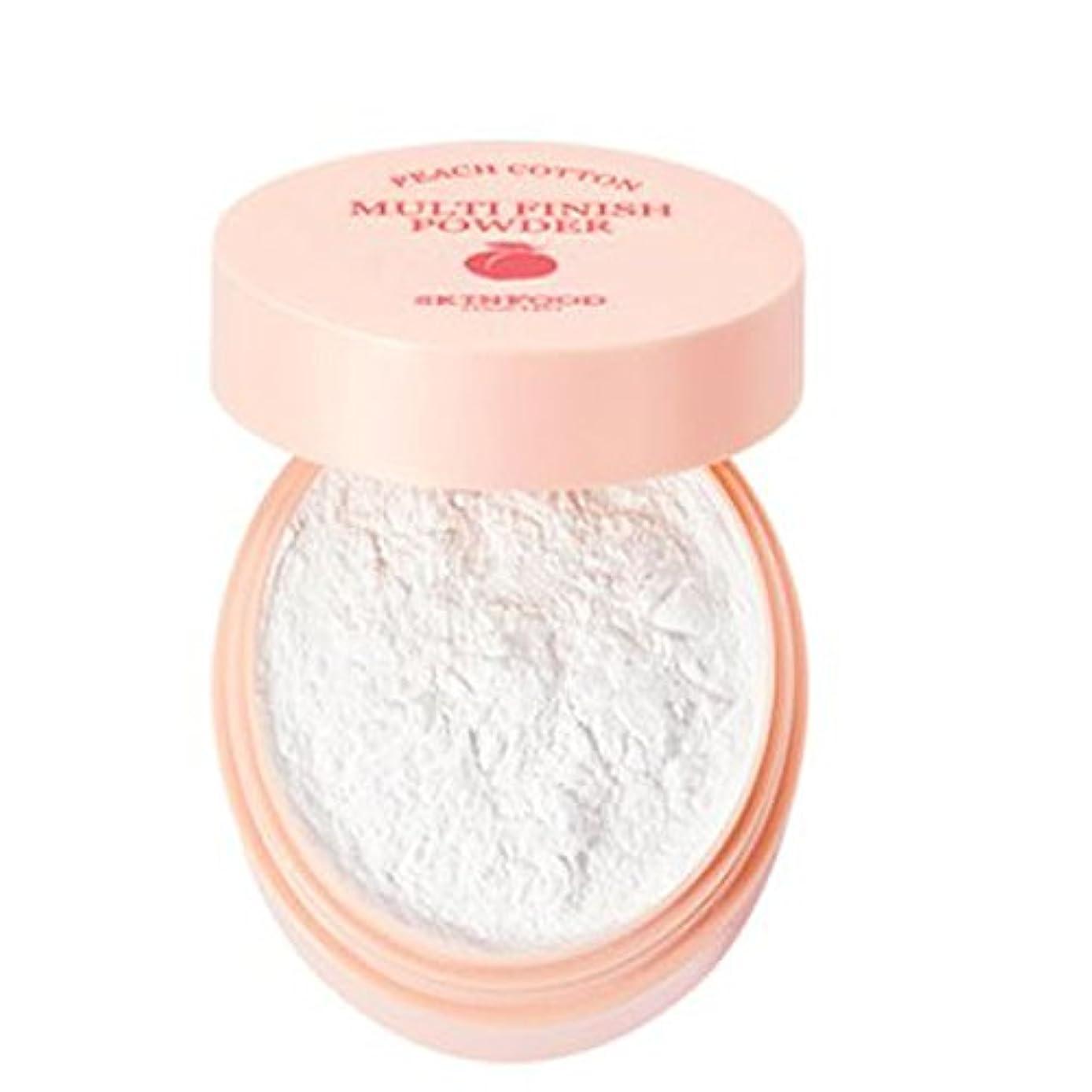 再撮り誘導チロ[SKINFOOD] Peach Cotton Multi Finish Powder ピッチサラッとマルチフィニッシュパウダー - 5g