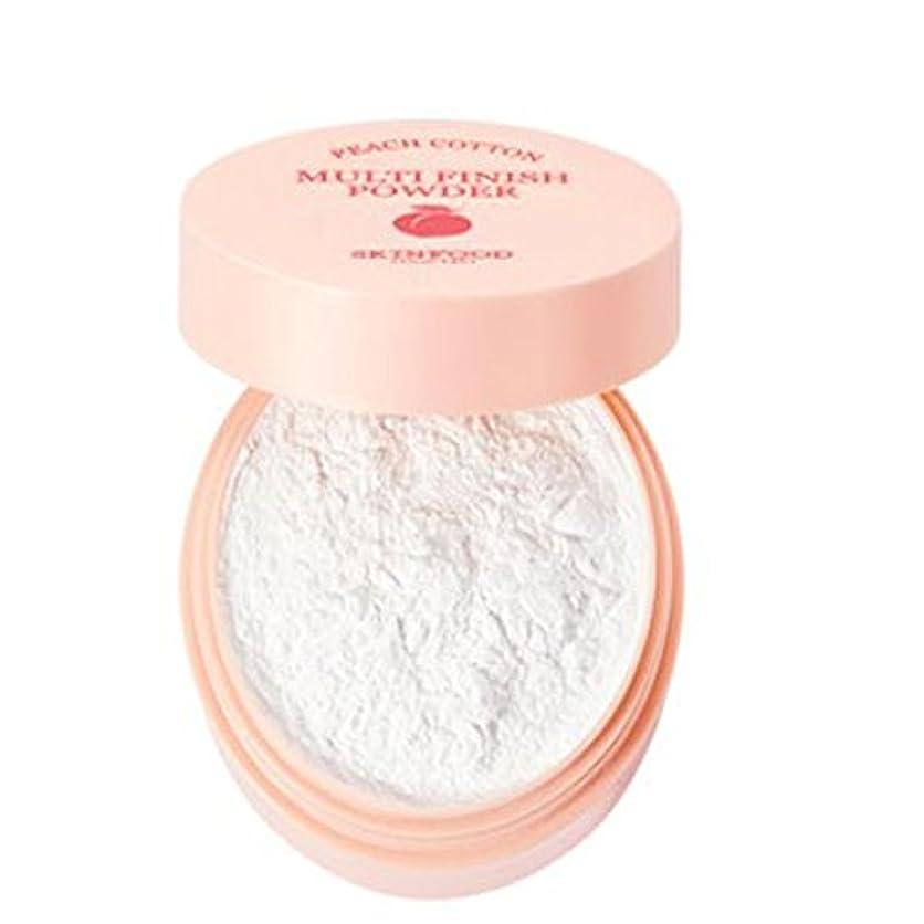 前に関して包囲[SKINFOOD] Peach Cotton Multi Finish Powder ピッチサラッとマルチフィニッシュパウダー - 5g