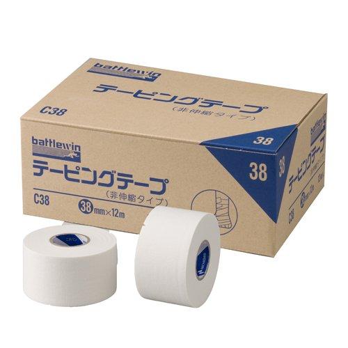ニチバン バトルウィン テーピングテープ 非伸縮タイプ 38mm×12m 12巻