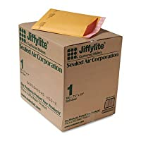 携帯クッション性優れたバリアバブルエア。–ANLE用紙/Sealed Air Corp。Jiffylite self-seal Mailer、サイドシーム、# 1、71/4x 12、ゴールデンブラウン、