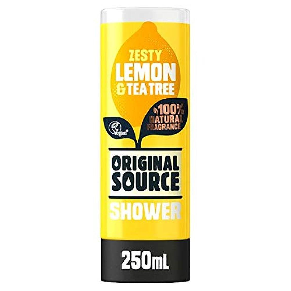気分が良い病気最少[Original Source] 元のソースレモン、ティーツリーシャワージェル250ミリリットル - Original Source Lemon And Tea Tree Shower Gel 250Ml [並行輸入品]