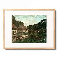 クロード・モネ Claude Monet 「Cour de ferme en Normandie」 額装アート作品