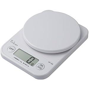 タニタ デジタルクッキングスケール 1kg/1g ホワイト KF-100-WH
