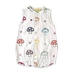 【Amazon.co.jp限定】 ホッペッタ Hoppetta champignon 6重ガーゼスリーパー ドレス式 カバーオール式2way キッズサイズ 5464
