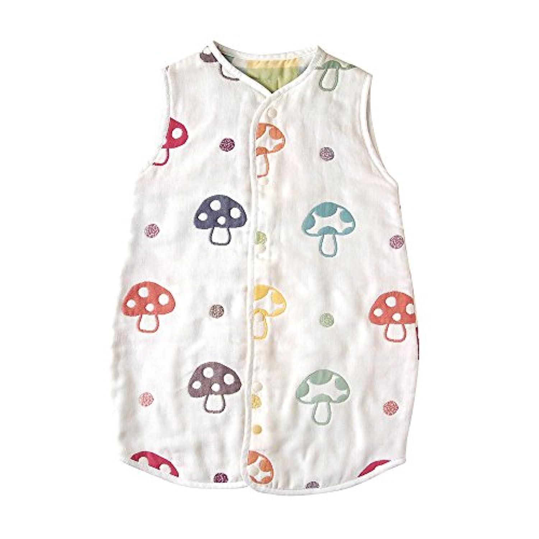 【Amazon.co.jp限定】 ホッペッタ Hoppetta champignon 6重ガーゼスリーパー ドレス式/カバーオール式2way キッズサイズ 5464