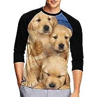 七分袖Tシャツ メンズ 中袖 吸水速乾 シンプル 無地 おしゃれ 犬遊ぶ犬のフリー 創意デザイン 男性Tシャツ スタイリッシュ おもしろ カジュアル スポーツ