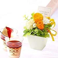 誕生日プレゼント バラ おいもやケーキ洋菓子 花とスイーツ プリザーブドフラワー アレンジメント お祝い お祝い 内祝…