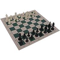 SGerste 携帯型 旅行 軽量 チェスセット マット 国際チェス 収納ボックス付