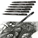 1/6pc Uni Pin Drawing Pen Fine Line 005 01 02 03 05 08 Needle pen New