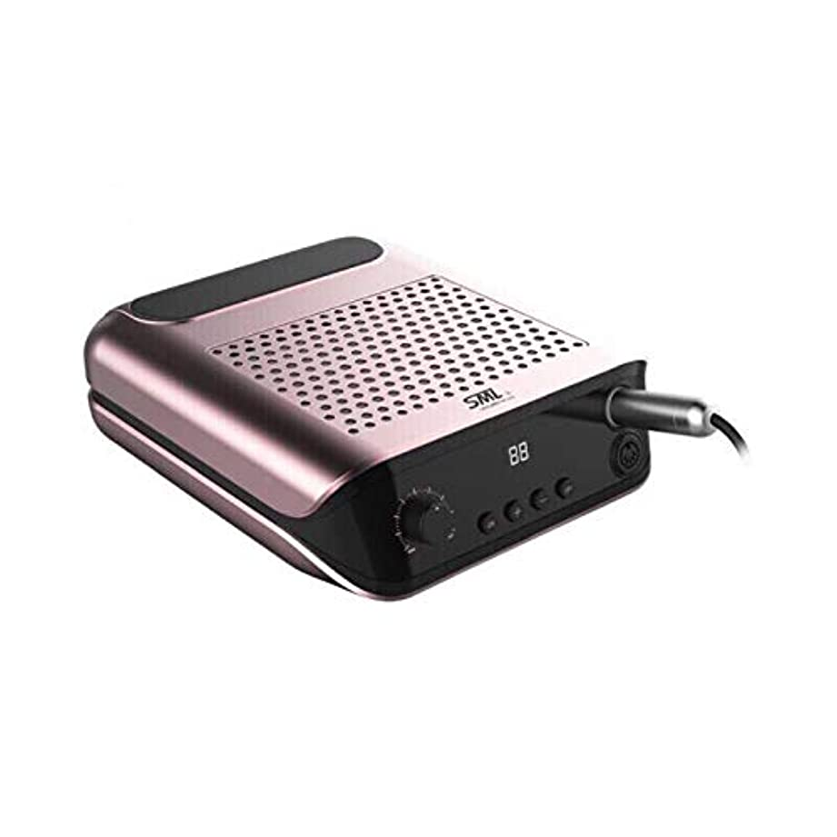 省略する用心するベッド2で1多機能電動ネイルドリル機、ネイルダスト収集速いマニキュアペディキュアネイルファイルドリルセットキット用アクリルネイル用、アクリルアートツール用アクリルジェルネイル、ピンク