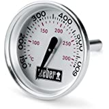 """Weber 60540 Charcoal, Spirit, Q Grill Replacement Thermometer, 1-13/16"""" Diameter"""