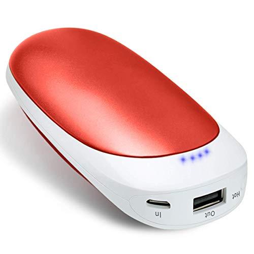 Vshow Baby Dolphin USB充電式カイロ 両面急速発熱 第二代の電気カイロ モバイルバッテリー 5200mAhの大容量 iphone&android対応可能 エコと経済的なハンドウォーマー 繰り返し使う可能 コンパクトのイルカようなデザイン-赤