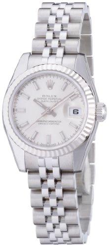 [ロレックス]ROLEX デイトジャスト シルバー文字盤 バーインデックス WG/SSコンビ5列 腕時計 Ref.179174 レディース 【並行輸入品】