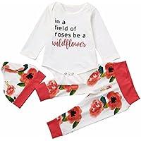 Baby cloths, SMTSMT Newborn Infant Baby Boy Girl Clothes Letter Romper Tops+Pants 3PCS Outfits Set