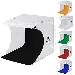 撮影ボックス LEDライト40PCS、22*23*24cm小型 簡易スタイジオ ミニ撮影ボックス USB給電 背景布6色付属 ボタン式 組立簡単 折り畳み 携帯型 撮影照明ボックス/撮影ブース/撮影キット