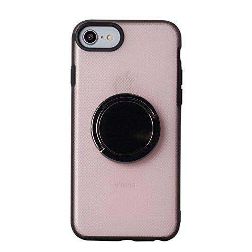BEGALO iPhone8 / 7 ハンドスピナー 指スピナー バンカーリング付 ケース 落下防止 360度回転 スタンド ストレス解消 ピンク HDSP-IP8-PNK126