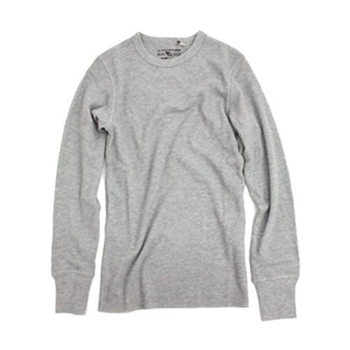 (アヴィレックス)AVIREX DAILY THERMAL CREWNECK TEE 6153515 14GREY GREY S Tシャツ