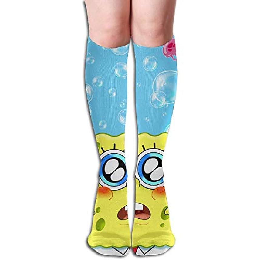 ランタン一族ビリーヤギqrriyスポンジボブは、バブルチューブストッキングレディース冬暖かい膝ハイソックスブーツ靴下をお楽しみください