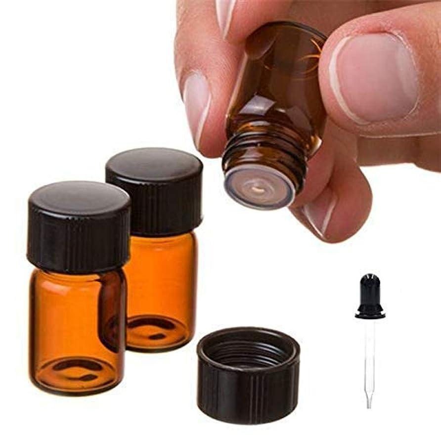 大きなスケールで見るとレイ肥料Oil Bottles,D.YMQGG Oil Bottles for Essential Oils 40 Pcs 2 ml (5/8 Dram) Amber Glass Vials Bottles, with Orifice...