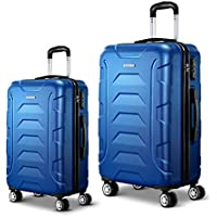 Wanderlite 2 Pcs Lightweight Luggage Hard Suitcases and Scale