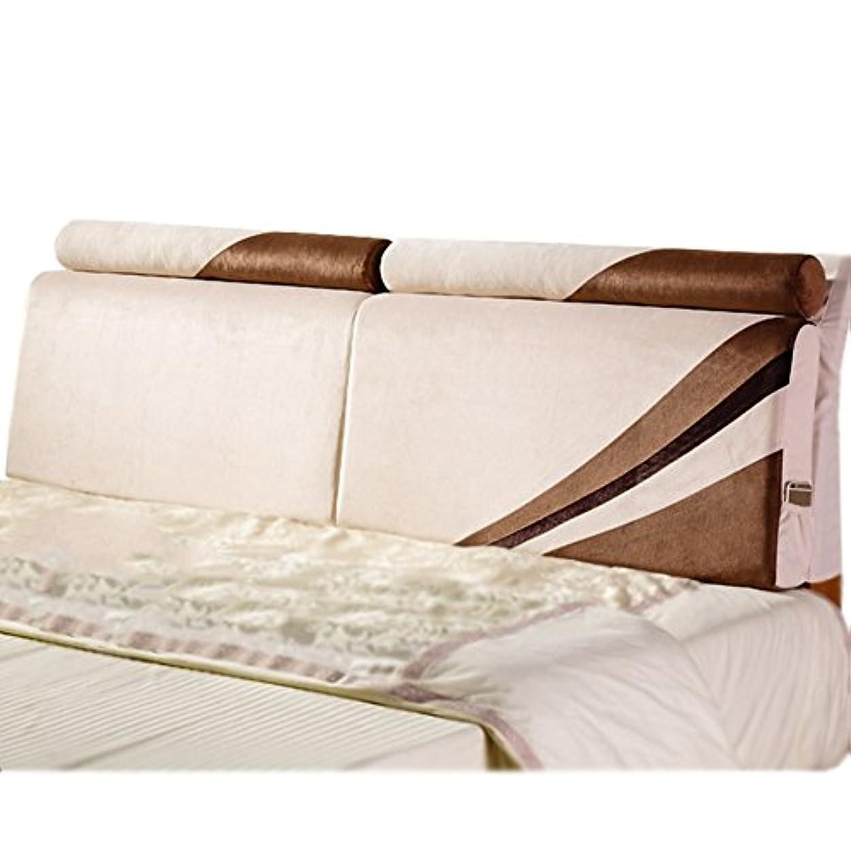 偶然他の場所マンモスLIXIONG ヘッドボードクッション ヘッドボードなし/ヘッドボード付き ソフトベッド 枕 シングルまたはダブル 大型背もたれ 読書 快適な ウエストパッド、 7のスタイル (色 : #3, サイズ さいず : With Headboard-150*55cm)