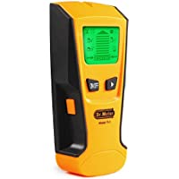 Dr.meter 探知機 デジタル スタッド 金属 AC電線 壁裏探知 高感度センサー 3モード ポータブル 使用簡単 イエロー Fi-1