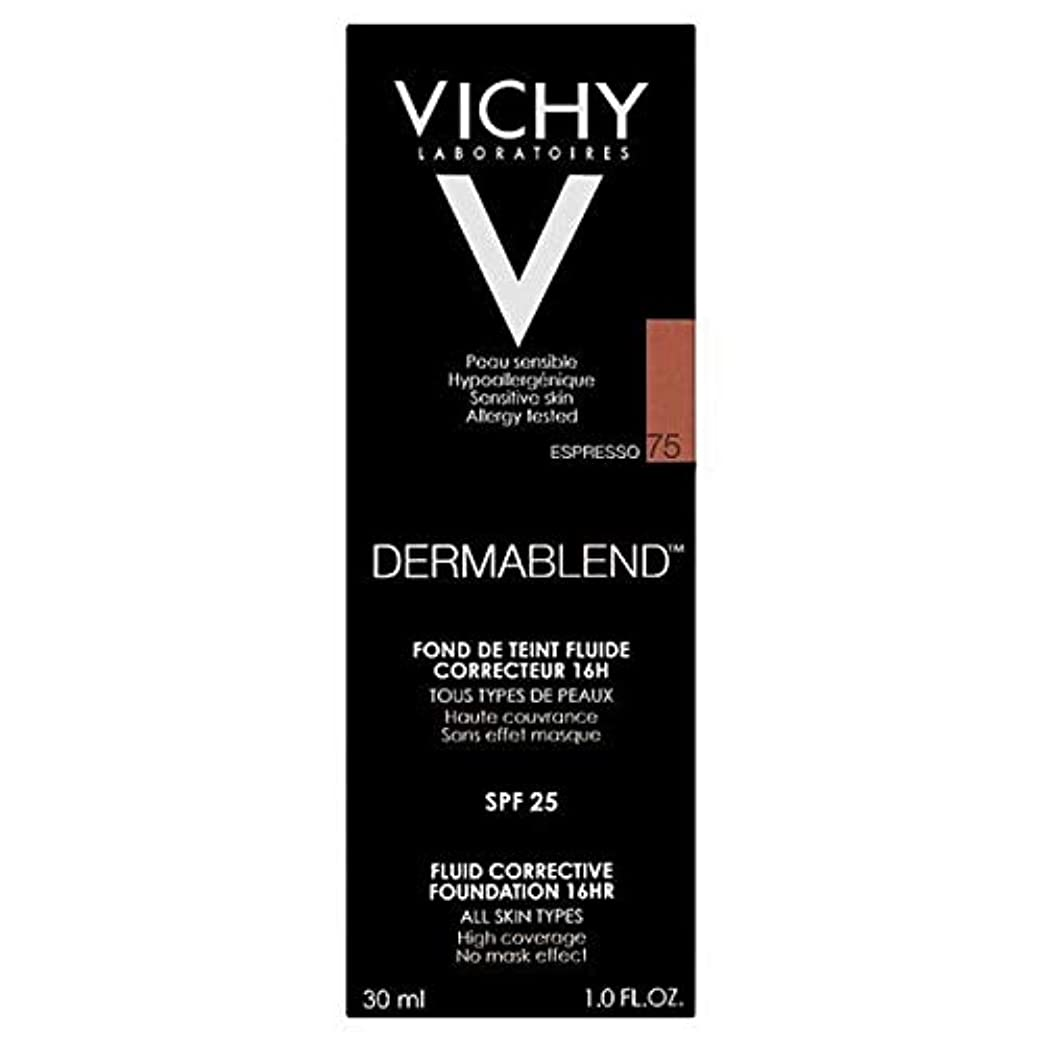 蒸とげ名門[Vichy ] ヴィシーDermablend流体是正基盤75エスプレッソ - Vichy Dermablend Fluid Corrective Foundation 75 Espresso [並行輸入品]