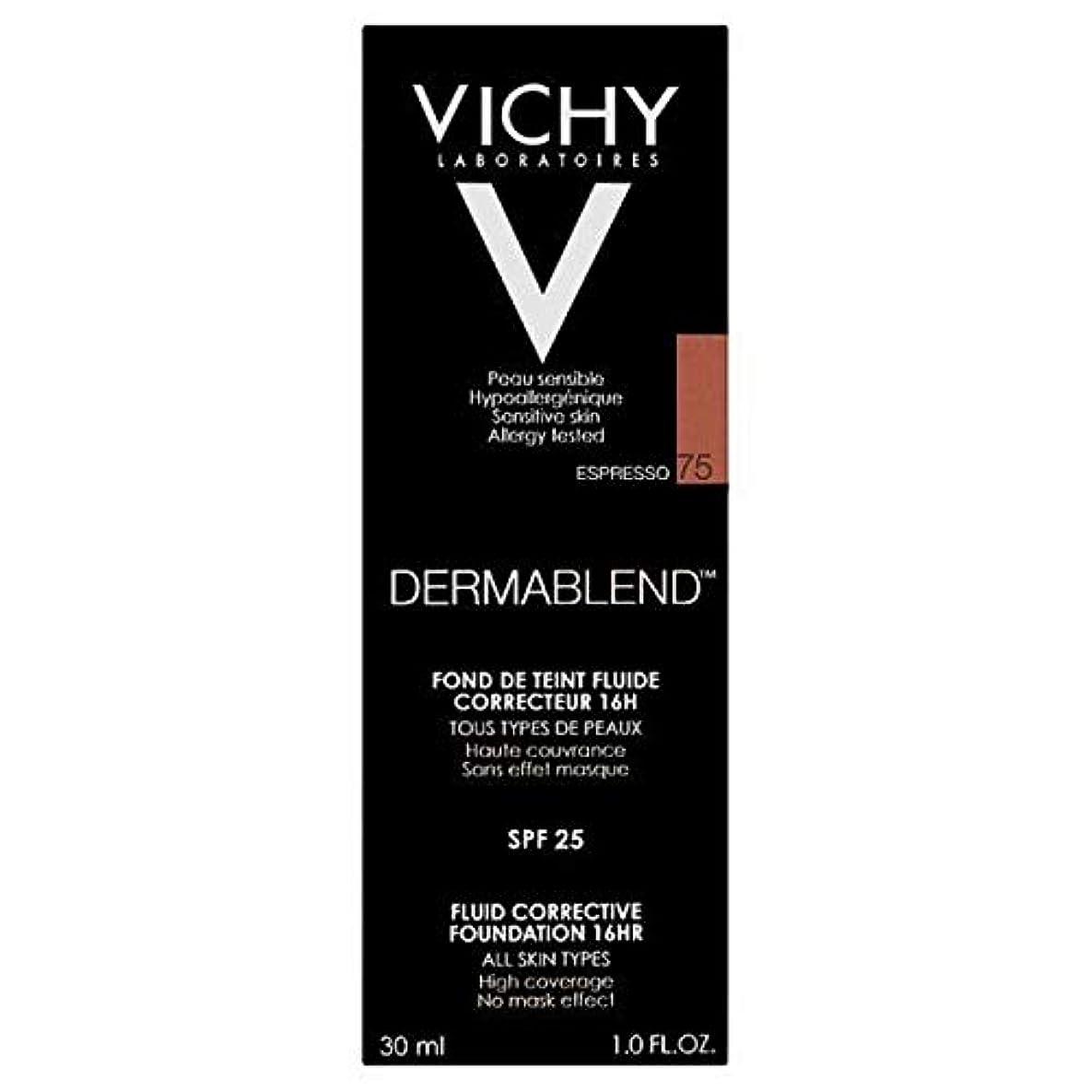 アラート模倣突進[Vichy ] ヴィシーDermablend流体是正基盤75エスプレッソ - Vichy Dermablend Fluid Corrective Foundation 75 Espresso [並行輸入品]