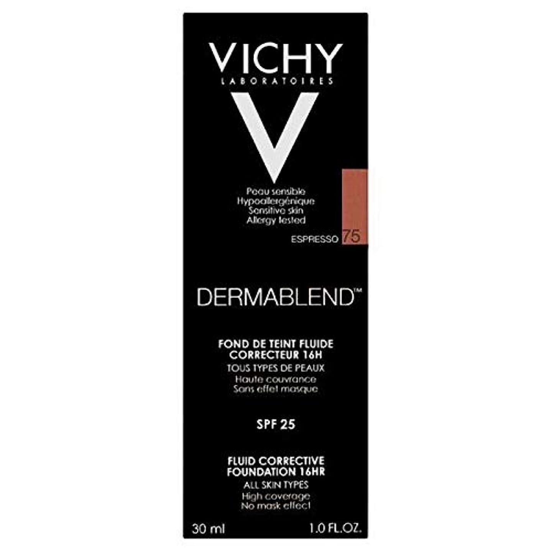 みぞれ拒絶マット[Vichy ] ヴィシーDermablend流体是正基盤75エスプレッソ - Vichy Dermablend Fluid Corrective Foundation 75 Espresso [並行輸入品]