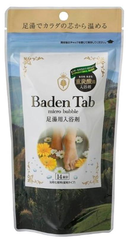 曇った自動車明確な紀陽除虫菊 薬用 重炭酸入浴剤 Baden Tab (足湯用) 14錠入り