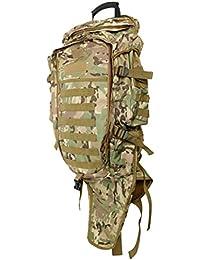 Baoblaze 屋外用 バックパック リュック ショルダーバッグ 戦術的 フロントポーチ 水ボトル 狩猟 登山 防水 耐用 3色選べ
