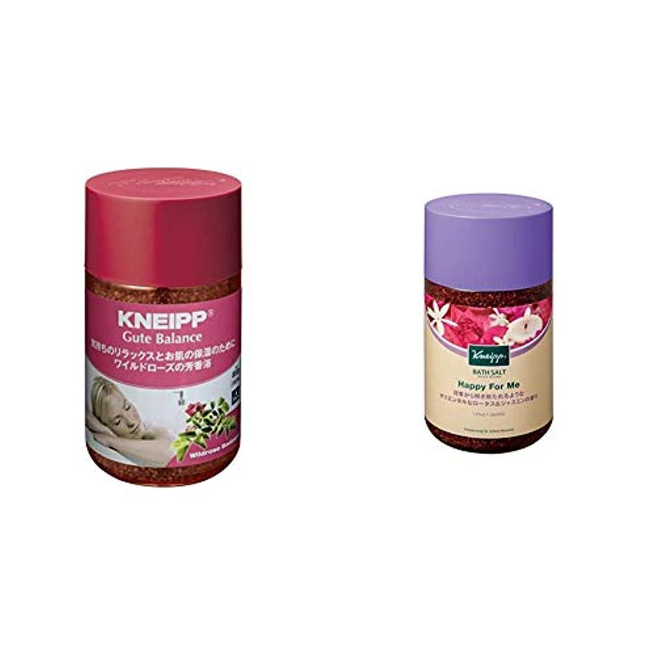そこ変換ワットクナイプ バスソルト グーテバランス ワイルドローズの香り 850g & バスソルト ハッピーフォーミー ロータス&ジャスミンの香り