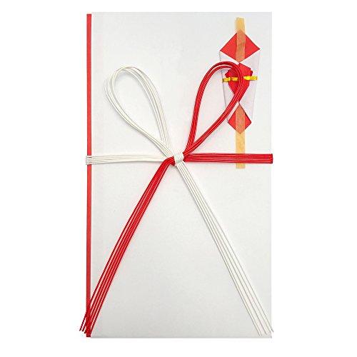 赤城 祝儀袋 紅白5本 祝 花結び 5枚入 キ980011