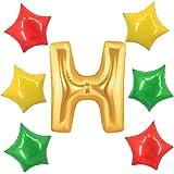 アドワン 数字 風船 バルーン 飾り付け 誕生日 ゴールド 大きい 数字1~9 文字 記念日 お祝い (H)