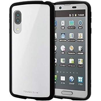 エレコム AQUOS sense3 lite/AQUOS sense3 / Android One S7 ケース TOUGH SLIM LITE 耐衝撃×高硬度8H [エアークッションで衝撃吸収] ホワイト PM-AQS3TSLWH