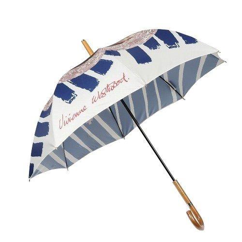 【Vivienne Westwood】ヴィヴィアンウエストウッド ケラブフレーム 婦人長傘(雨傘) 青×白