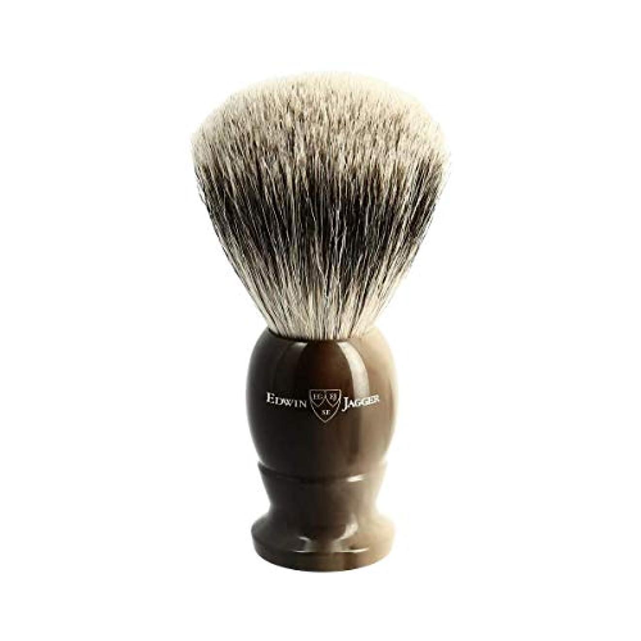 ステレオタイプ腰支給エドウィンジャガー ベストバッジャーアナグマ毛 ライトホーン シェービングブラシラージ3EJ872[海外直送品]Edwin Jagger Best Badger Light Horn Shaving Brush Large...