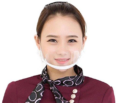 Market 透明 マスク 10個 プラスチック 業務 清掃クロス マスクケース 付き