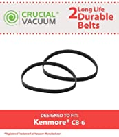 Crucial Vacuum 2 Kenmore CB-6 Belts Fits Kenmore Powerhead Canister Vacuums Compare to Part # 20-5201 [並行輸入品]
