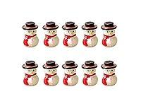 Osize 理想的 ミニチュアマイクロ景観クリスマススノーマン装飾品DIY屋外ガーデンデコレーションホーム植物ギフト(ホワイト)