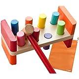 Mille Ti Rana トントン打ってひっくり返す 叩くおもちゃ 木のおもちゃ ハンマートイ 知育 玩具 (片づけ袋付き)