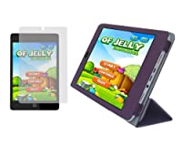 iShoppingdeals–パープルPUレザーつ折りスマートカバーケースとアンチグレアマットスクリーンプロテクターfor HP Slate 8Pro 7600us