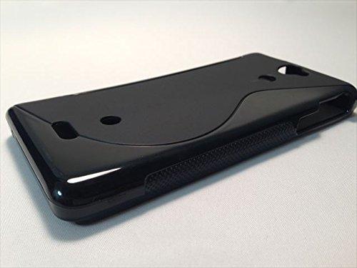OLLMART Xperia AX SO-01E VL SOL21 TPU素材 ソフトケース (ブラック) [並行輸入品]