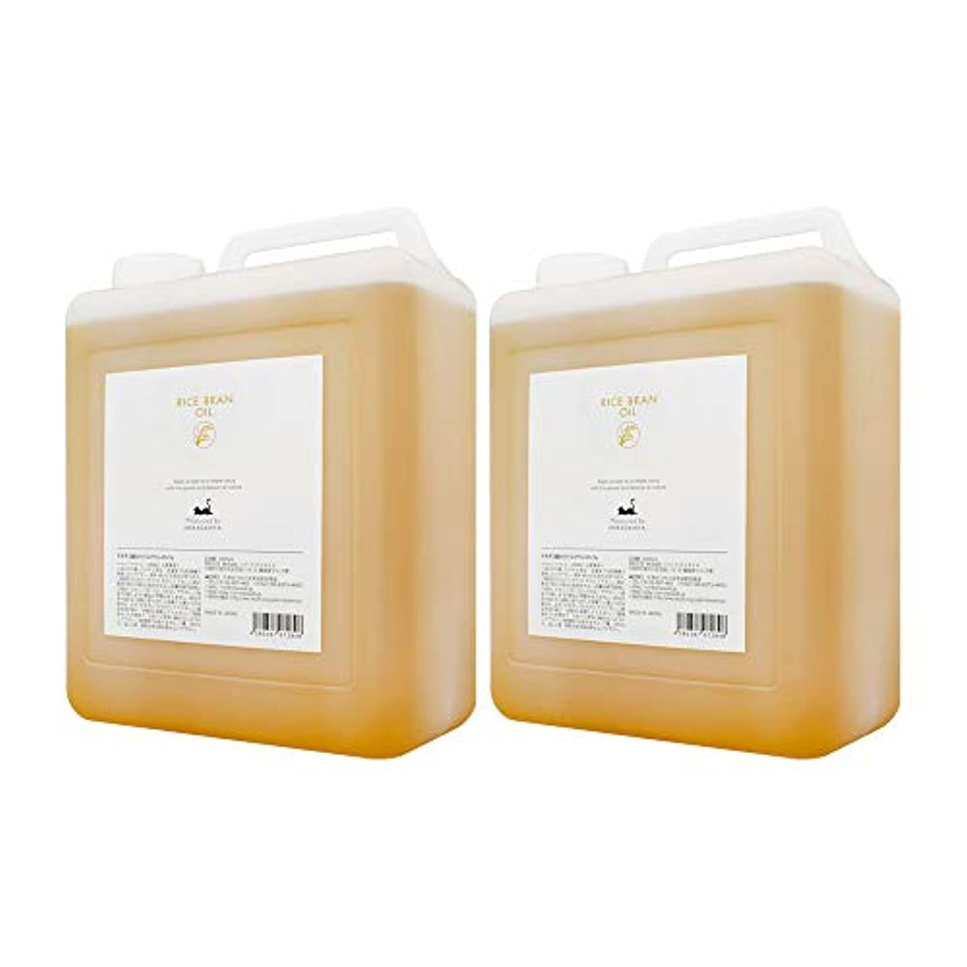 ストレッチクラフト正当なライスブランオイル3000ml×2本 (米油 米ぬか油 ライスオイル/コック付) 高級サロン仕様 マッサージオイル キャリアオイル (フェイス/ボディ用) 業務用?大容量