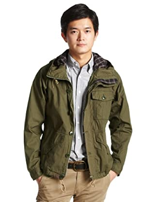 Weather Cloth Anorak Parka 11-18-1968-152: Olive
