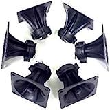 3 Pair of 3.25 x 3.25 Piezo Tweeter Element DJ Speaker Car Audio Square Single Super Horn NTX-1004PZ